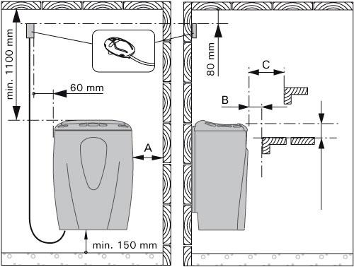 Схема установки электрической каменки Harvia Moderna